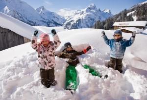 Warth en Schröcken skidorpen